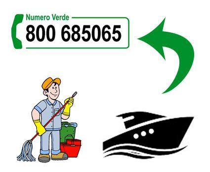 contatta 100Mani srl per la pulizia barca a Roma